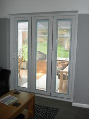 Blinds for folding sliding doors